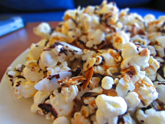 Peanut Butter Cup Party Popcorn Almonds Barr & Table