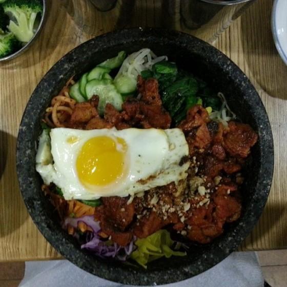 Spicy Pork Bibimbop Spoon Korean Cafe