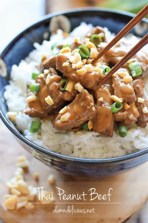 Thai Peanut Beef Damn Delicious