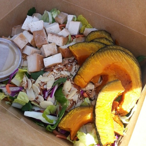 Asian Salad Baked Tofu Kabocha Squash The Mixing Bowl