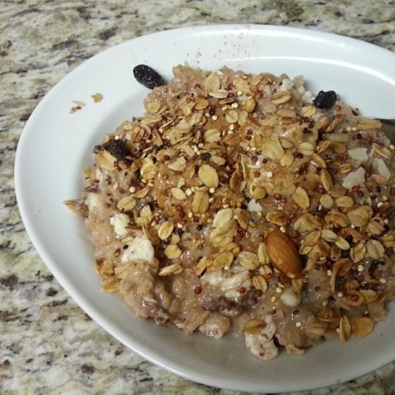 Banana Raisin Oatmeal Quinoa Granola