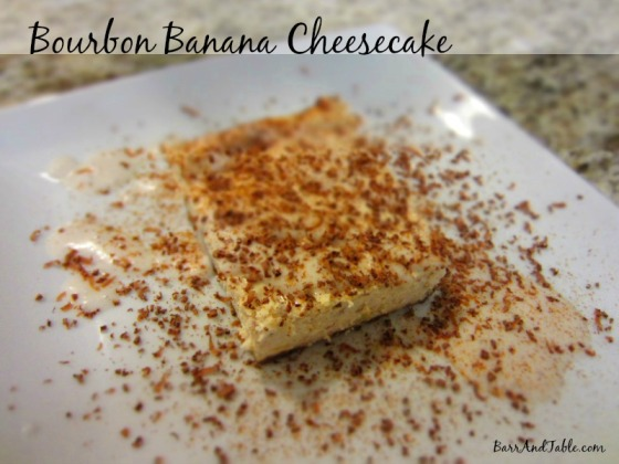 Bourbon Banana Cheesecake Bourbon Coconut Cream