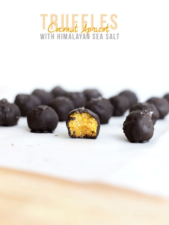 Coconut Apricot Truffles Himalayan Sea Salt Fit Foodie Finds