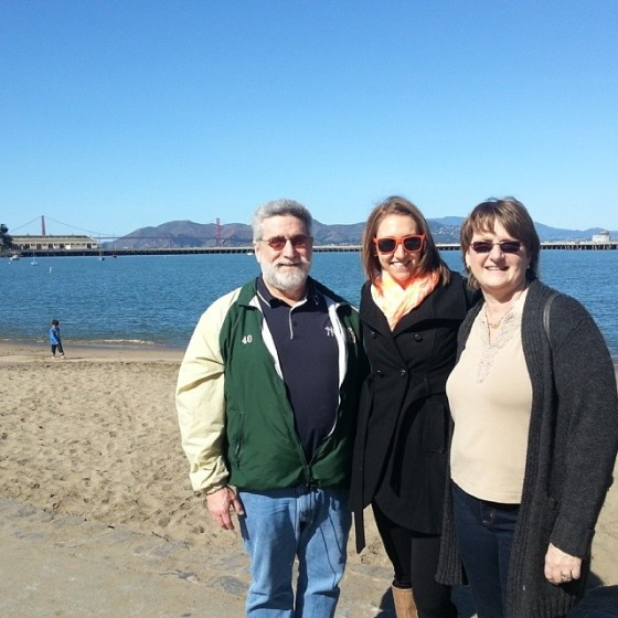 Mom Dad Golden Gate Bridge