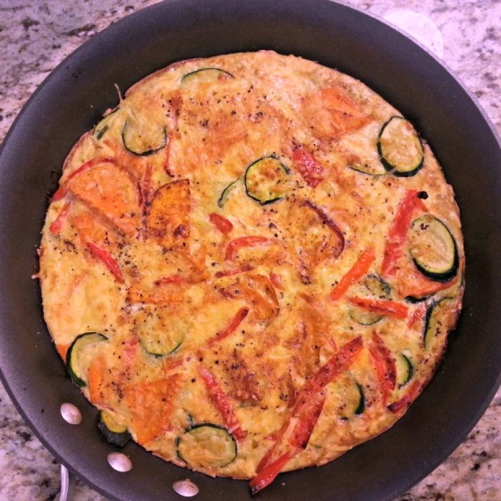 Sweet Potato Zucchini Red Pepper Frittata