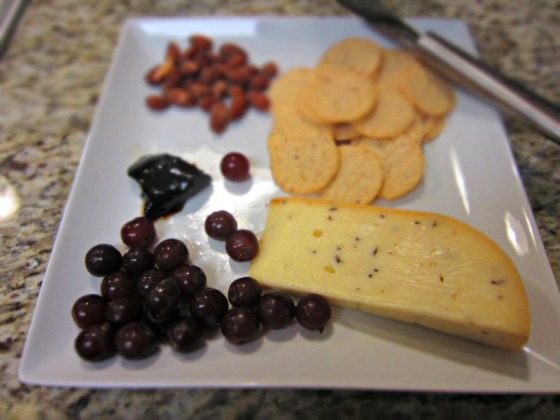 Truffle Gouda Grapes Balsamic Jam Almonds Nut Thins