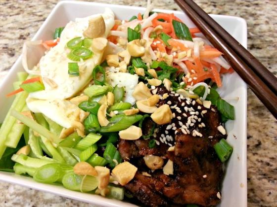 Vietnamese Vermicelli Grilled Pork Bowl
