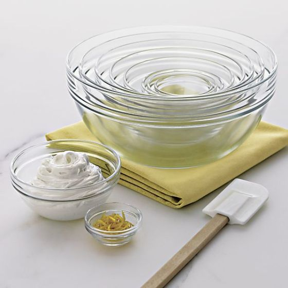 Crate Barrel Glass Nesting Bowl Set