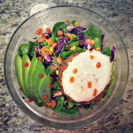 Egg Yolk Spinach Avocado Trader Joes Pizza Burger