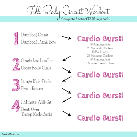 Full Body Circuit Workout Barr and Table