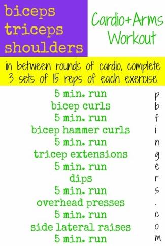 PBFingers Cardio Arms Workout