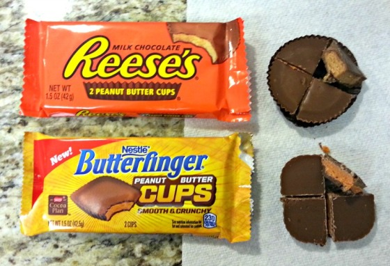 Reeses Butterfinger Peanut Butter Cups Cutup