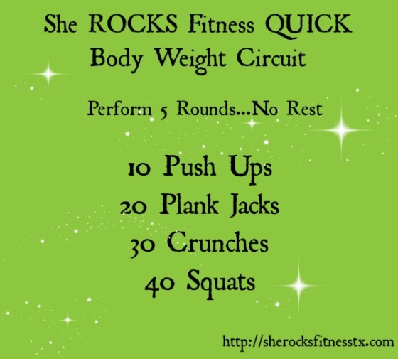 Quick She ROCKS Workout She Rocks Fitness