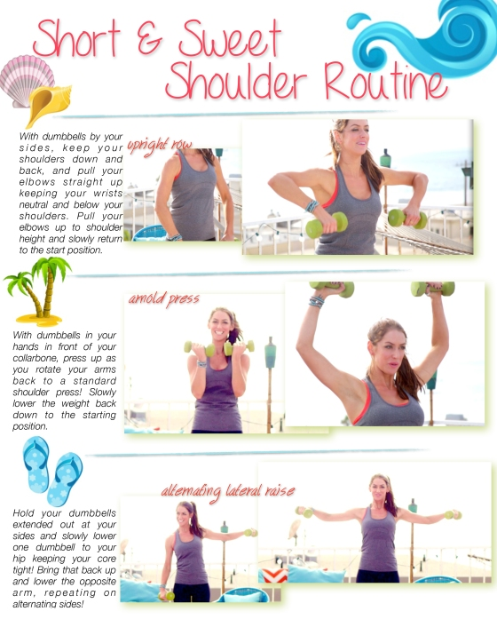 Short Sweet Shoulder Routine Tone It Up TIU