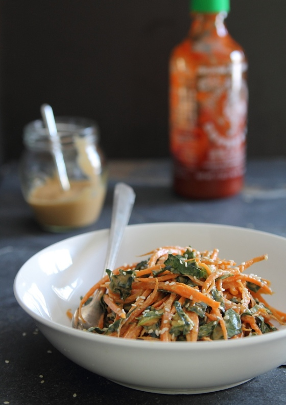 Spicy Thai Carrot Kale Salad Running to the Kitchen