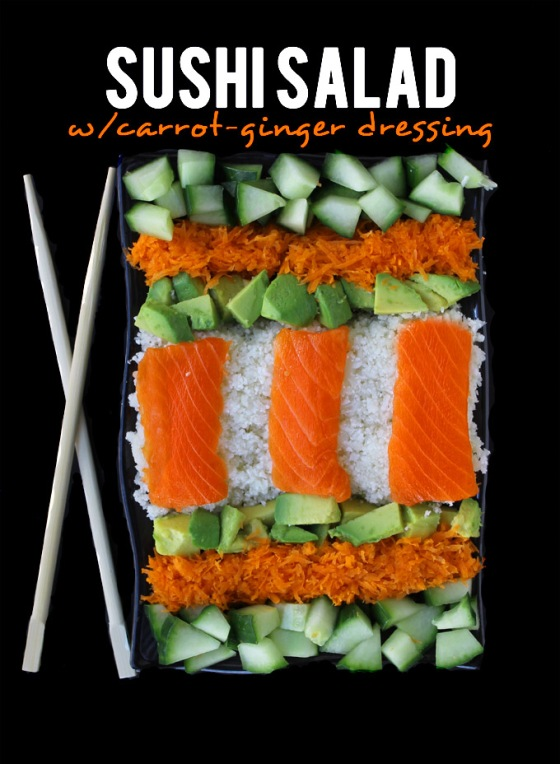 Sushi Salad with Carrot Ginger Dressing The Healthy Maven