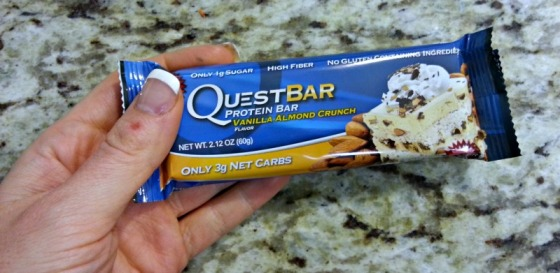 Vanilla Almond Crunch Quest Bar