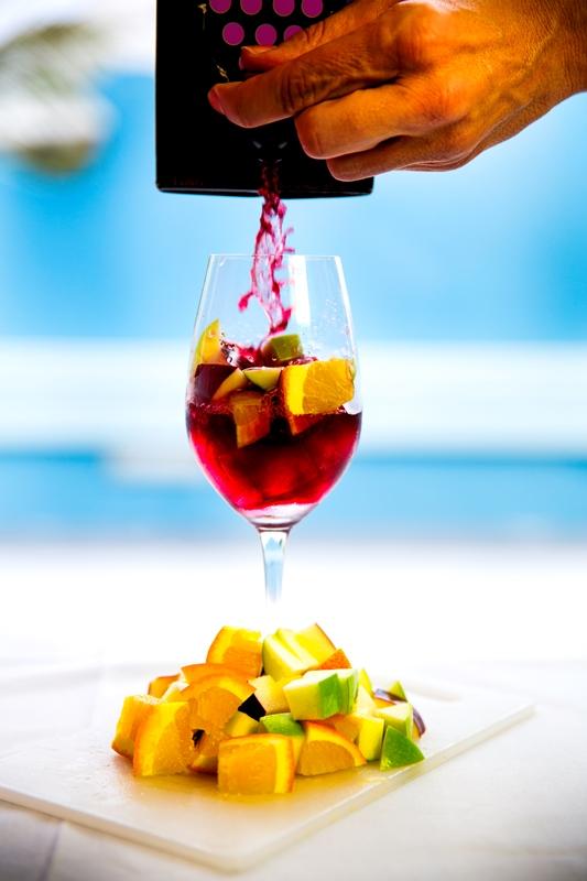 Beso Del Sol Sangria Glass