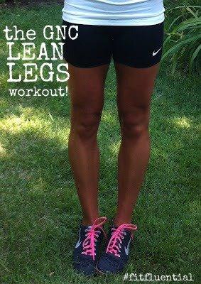 Blonde Ponytail GNC Lean Legs Workout