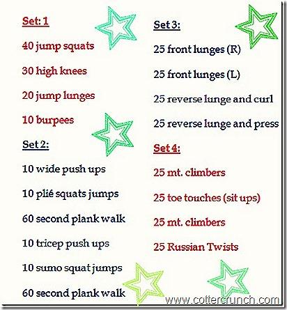 Cotter Crunch 30 Min Workout