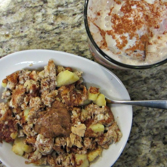 Egg Sweet Potato Banana Scramble Justins Almond Butter Coconut Coffee