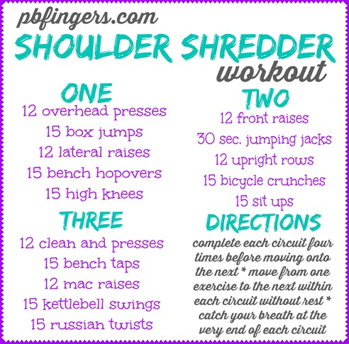 Peanut Butter Fingers PBFingers Shoulder Shredder Workout