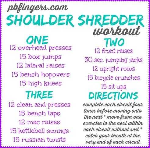 Peanut Butter Fingers PBFingers Shoulder Shredder Workout