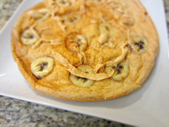 Peanut Butter Banana Protein Souffle Pancake