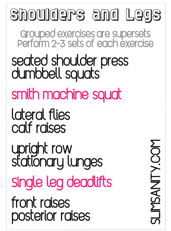 Slim Sanity Shoulders Legs