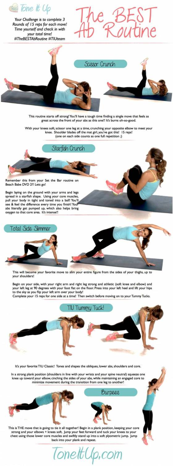 Tone It Up TIU Best Ab Workout