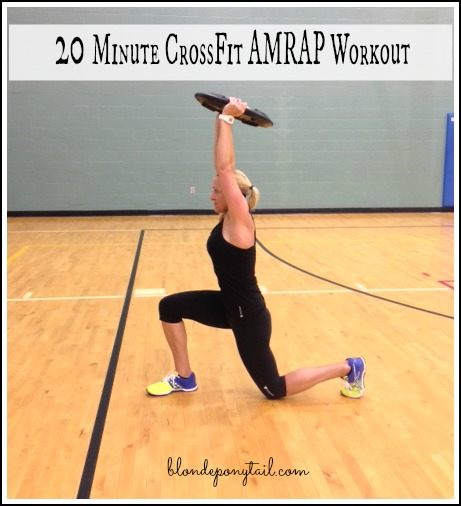 20 Minute AMRAP Crossfit Workout Blonde Ponytail