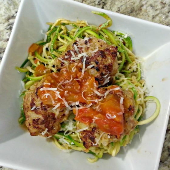Baked Turkey Meatballs Zucchini Noodles Joy the Baker