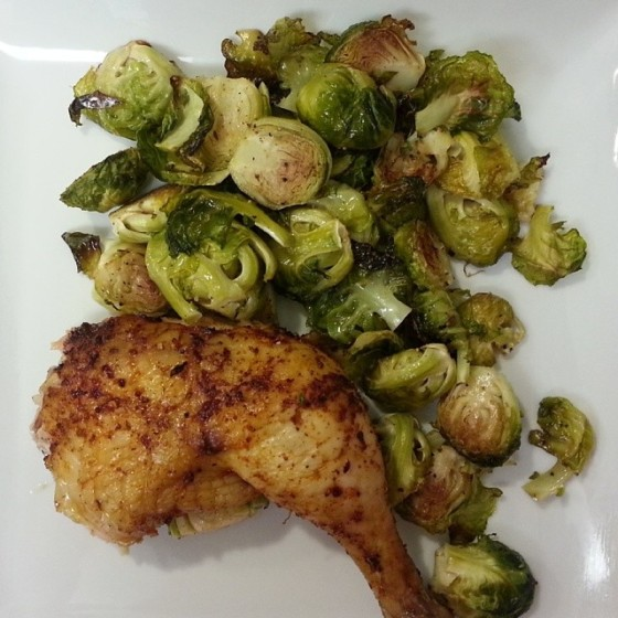 Beer Can Chicken Roasted Brussels Sprouts