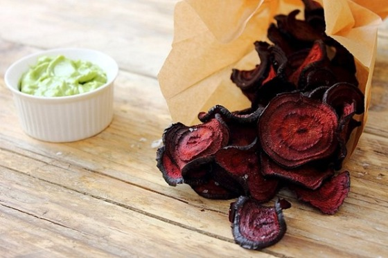 Beet Chips Avocado Mayo Peachy Palate