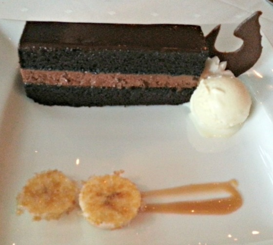 Devils Food Chocolate Cake Banana Brulee John Ash