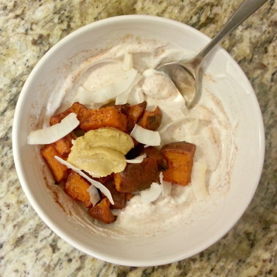 Fage Sweet Potato Coconut Cashew Butter Cinnamon