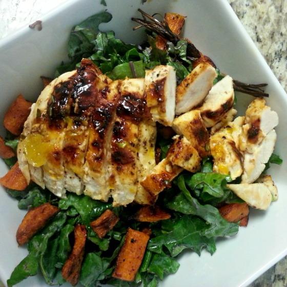 Orange Rosemary Chicken Kale Carrots