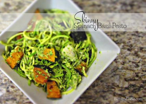 Skinny Spinach Basil Pesto