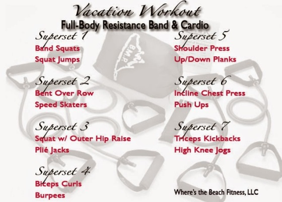 Vacation Workout Full Body Resistance and Cardio Wheres the Beach Fitness