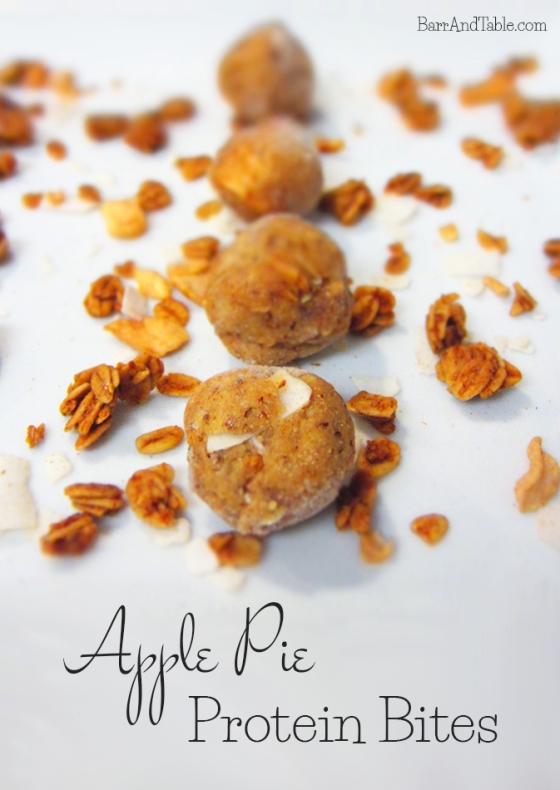 Apple Pie Protein Bites