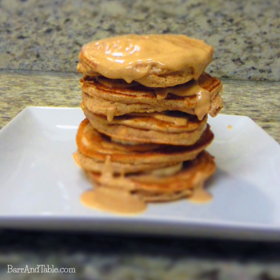 Coco-Peanut Butter Protein Pancakes Stack