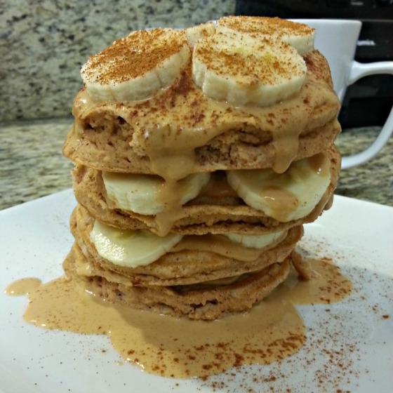Coco-Peanut Butter Protein Pancakes
