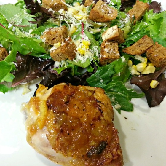 How Sweet It Is Beer Glazed Citrus Chicken Roasted Corn Caesar Salad