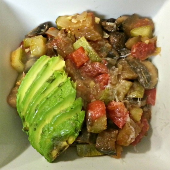 Lentil Ratatouille Avocado Fresh Pasta