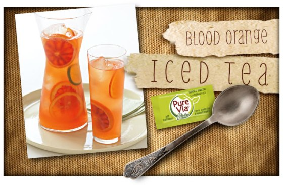 Pure Via Blood Orange Iced Tea