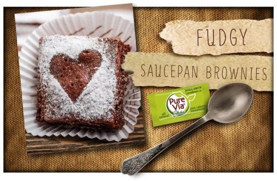 Pure Via Fudgy Saucepan Brownies