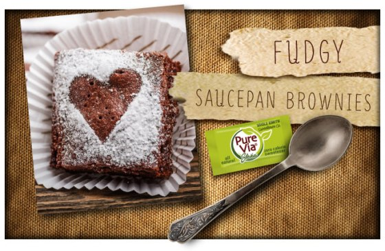 Pure Via Fudgy Saucepan Brownies