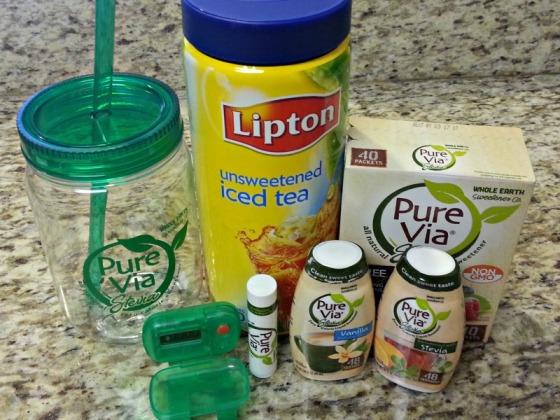 Pure Via Stevia Giveaway Lipton Iced Tea