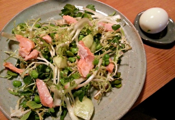 Ramen Shop Salmon Salad