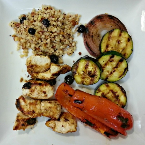 That Skinny Chick Can Bake Feta Chicken Kabobs Joy the Baker Toasted Pecan Blueberry Couscous Salad